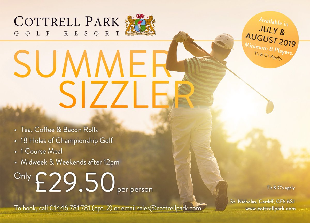 test Twitter Media - Are you yet to arrange your Golf Day this Summer!? ☀️⛳️  Take a look at our fabulous Summer Sizzler Package for a minimum of 8 players.  For more info contact our Sales Team sales@cottrellpark.com | 01446 781781 (Opt. 2) . #summersizzler #golfawayday #walesgolfday #summergolf https://t.co/gBCH85MwhZ