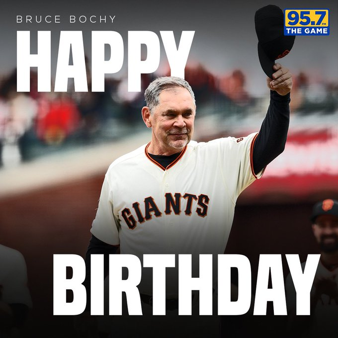 Happy Birthday to the one and only Bruce Bochy