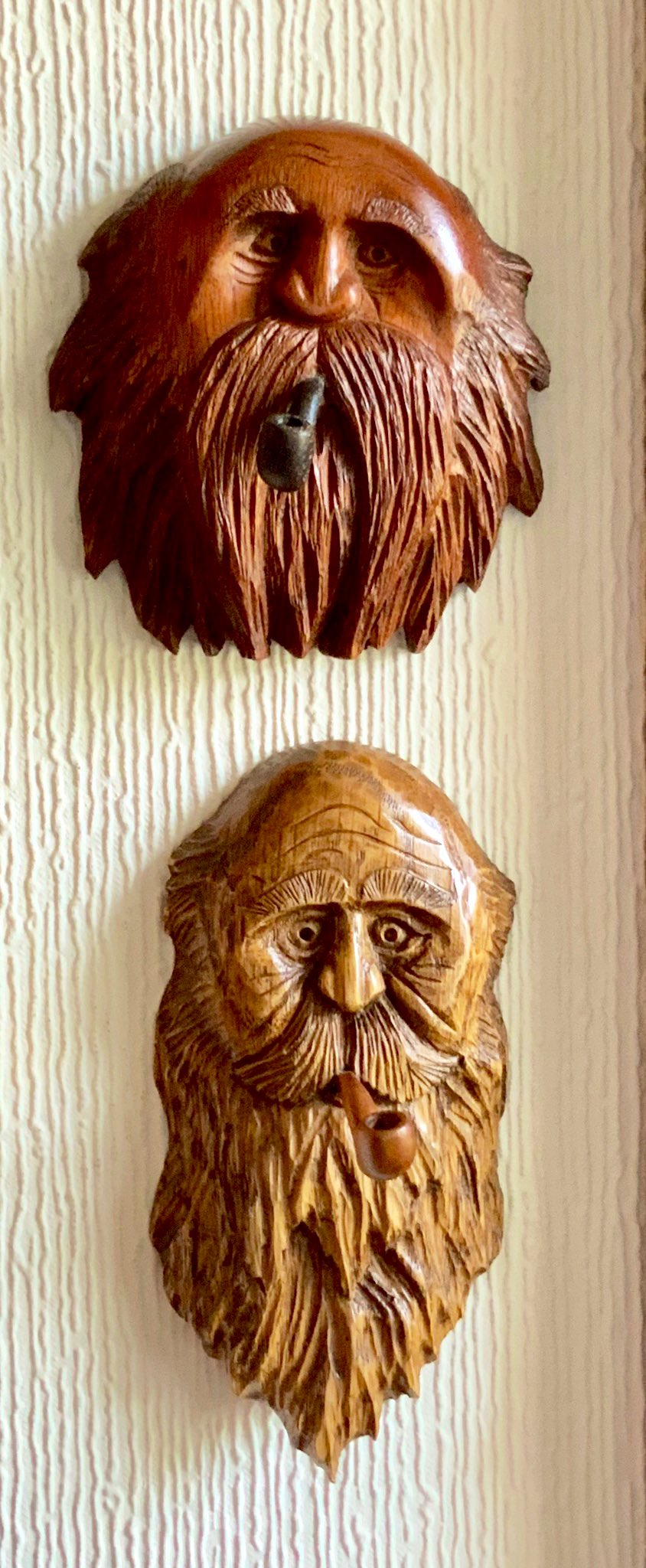 Two old guys with a bad habit top one mahogany the other oak https://t.co/tqcC8X3HHY