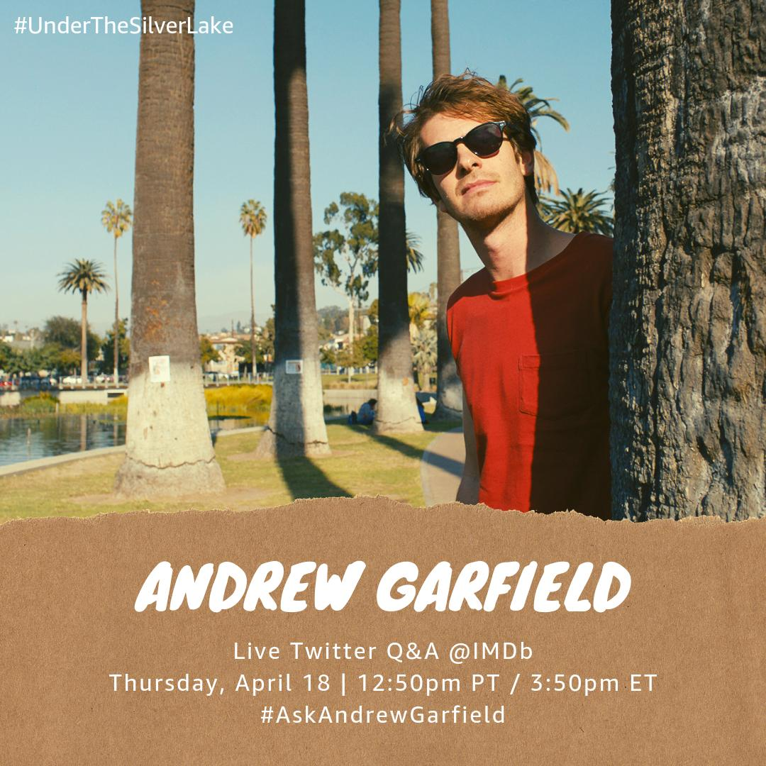 test Twitter Media - Have a question for #AndrewGarfield? Join us for a live Twitter Q&A with the #UnderTheSilverLake star this Thursday at 12:50pm PT / 3:50pm ET! Tweet us your Q's for Andrew now using #AskAndrewGarfield https://t.co/eHXDOS2BCz
