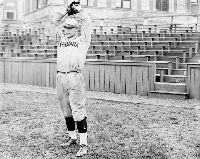 South Field, Columbia University, Apr 18, 1923 - On the same day the Yankees are opening up their brand new stadium, about 3 miles away in Manhattan an southpaw hurler by name of Lou Gehrig is busy striking out 17 Williams College batters. Unfortunately, he also lost the game 5-1 https://t.co/MrUPG3zLPz
