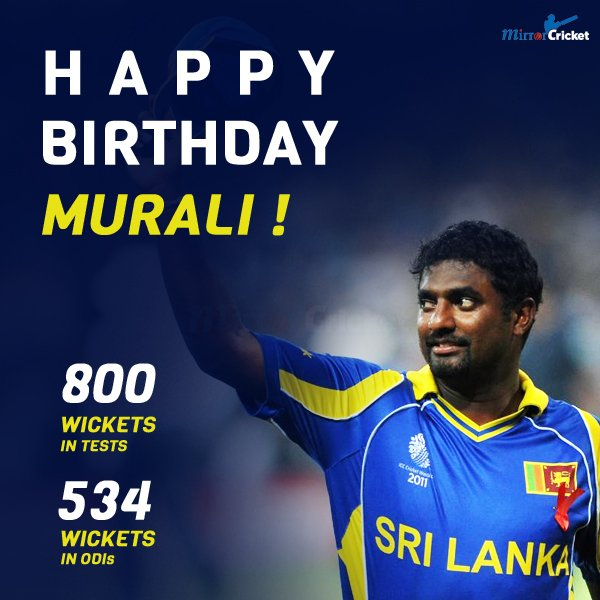 Happy birthday to legendary spinner Muttiah Muralitharan!