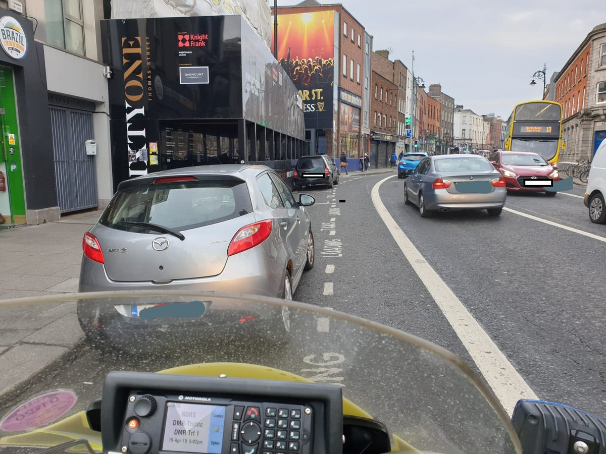 test Twitter Media - 16 FCPS were issued to drivers by DMR Roads Policing Unit parking illegally blocking the Bus/ Cycle Lanes, hindering the movement of cyclists and Busses alike during peak traffic times. This operation will continue https://t.co/slg2IAoBv9