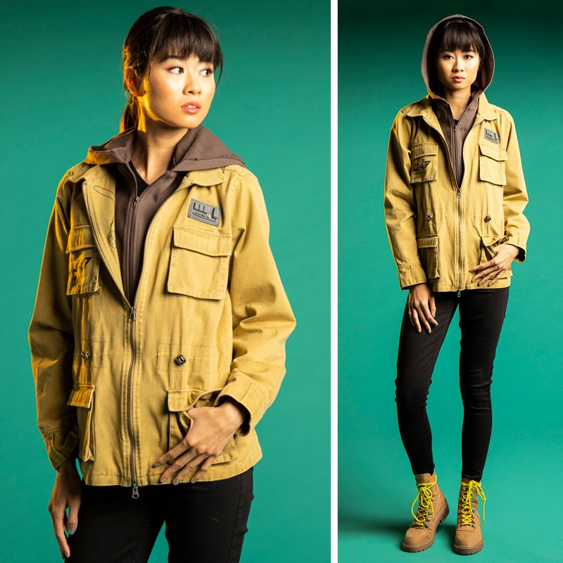 test Twitter Media - NEW! This jacket is inspired by the flight-engineer-turned-hero #RoseTico from #StarWars #TheLastJedi with molded rubber & printed details. Inside first zipper is print of her most prized possession-her Otomok Medallion. Shop here (Plus Size, too) - https://t.co/WvkjU0azS0 https://t.co/685GL9wDCk