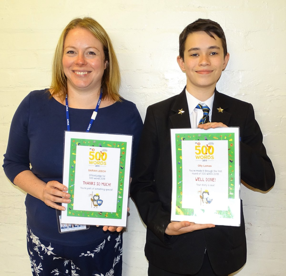 test Twitter Media - Well done to Olly in Year 8 who has got through the first stages of the BBC's 500 words which is amazing as there were 180 000 entries.  Olly has written a story called 'Pine Trees at Chernobyl'.  Congratulations too to Miss Leech who is a judge. https://t.co/cM46aEKvGl