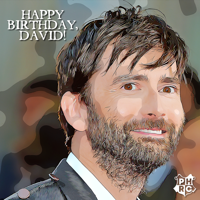 Happy Birthday to the man who is thankfully NOT Barty Jr. -- our beloved David Tennant!