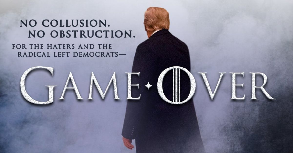 "HBO fires back at Trump's GameOfThrones-inspired ""no collusion"" tweet"