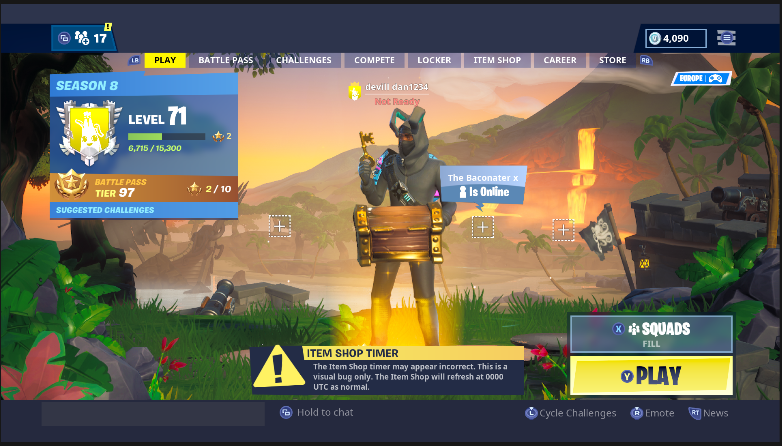 @TheCampingRush just came off of save the world and was this in BR https://t.co/U8ZqN2z4op