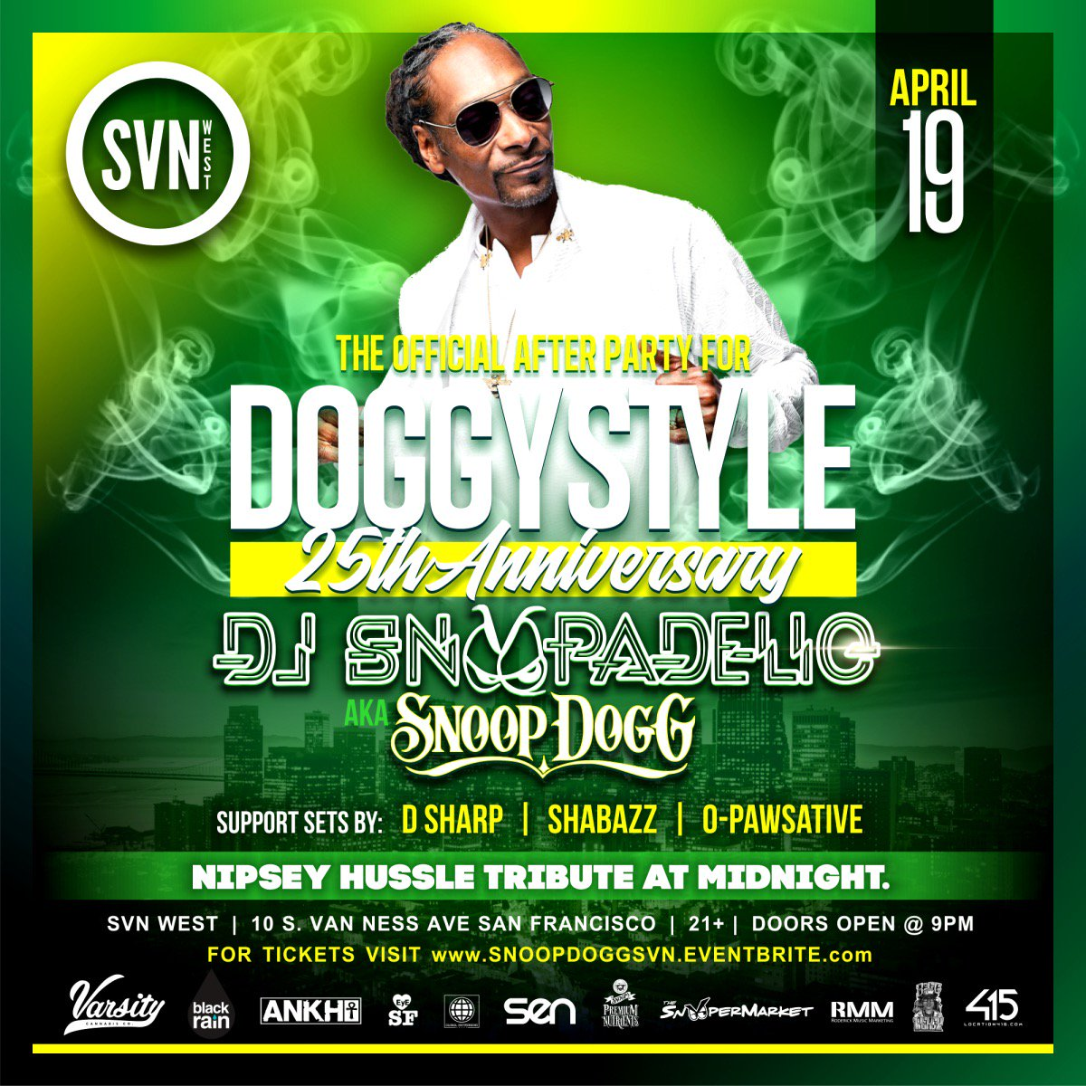 After the sold out SF show tonight dj snoopadelic on the decks for the afterparty ???????????? @bigpercyrmm does it again ! https://t.co/sDvNV8K9UK