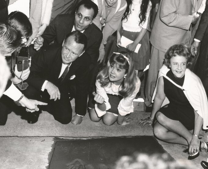 Happy birthday Hayley Mills! She\s pictured at her imprint ceremony in 1964.