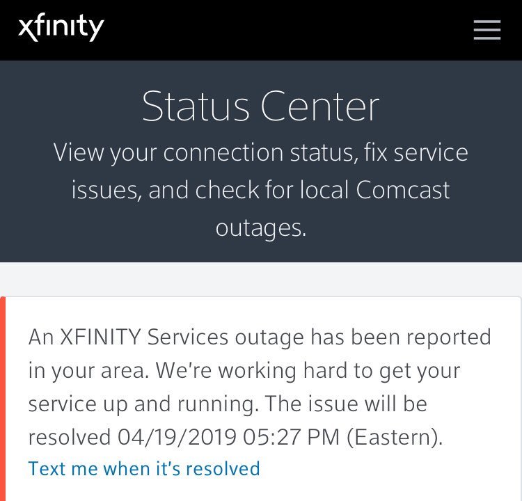 test Twitter Media - Peachtree City Ga. says we will have service restored by 5:30pm.  12 hours, because of some rain. @comcastcares #comcastoutage https://t.co/DREre7OnDg