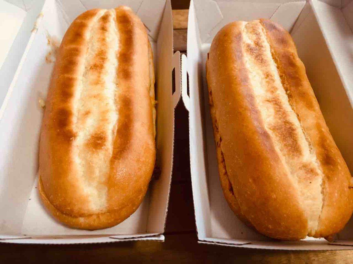 test ツイッターメディア - 初めてドミノピザを持ち帰り予約してみた。ピササンドのドミノデラックスと高麗カルビ。1個だと物足りないけど、2個だと多かった。サイドメニューのSサイズを頼むくらいがちょうどいいかも。どっちも美味しかったけど、ピザは丸いのが食べたいね! #ドミノピザ https://t.co/YCgA0PycVc