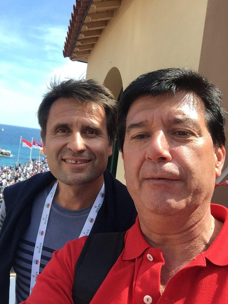 Con Frabrize Santoro ex Campeón de Copa Davis en El Montecarlo Rolex Master 500 https://t.co/Erd6gHKqvy