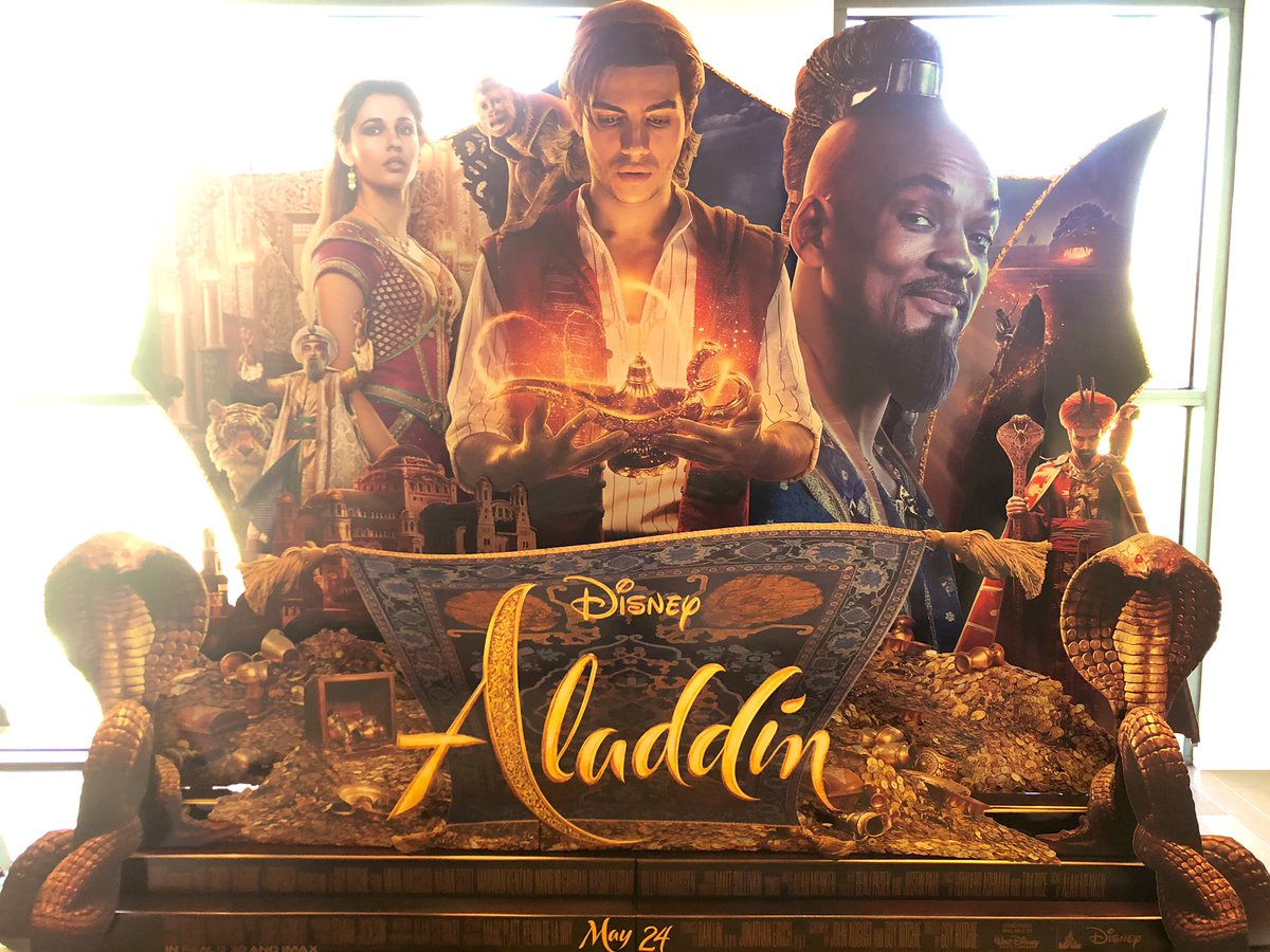 RT @asadayaz: Our theatrical standee for #Aladdin from @SteveNuchols and team, in theaters May 24 #Disney https://t.co/qeiJwJEUqw