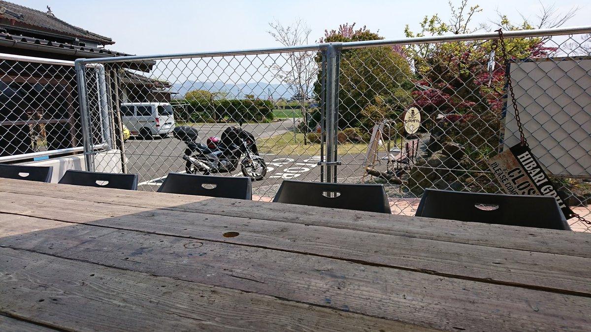 test ツイッターメディア - I'm at HIBARI cafe! 初ヒバリカフェ。まだお客さん少なくて、すんなり食べられる。 もやってるけどいい天気で良い気温! #阿蘇 #バイク #ツーリング https://t.co/kj3Ir8NxJ5