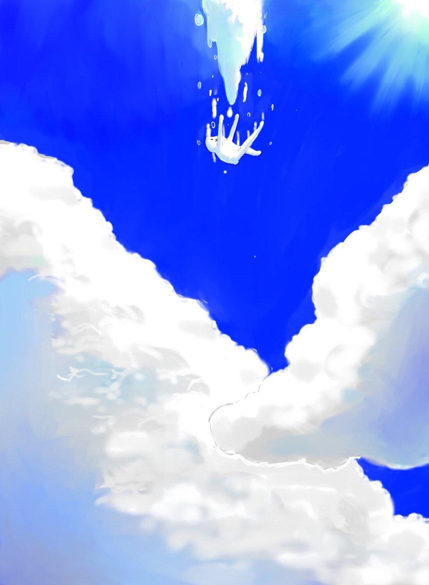 RT @ashizawamuneto: 空にドボーン。  #フテネコ https://t.co/xHZx0nZ73Q