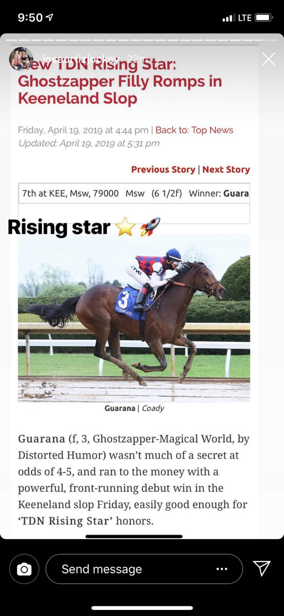 "test Twitter Media - Amazing what @theTDN created with the ""TDN Rising Star.""  The biggest owners in the business 😭 when their maiden doesn't get it and you have eclipse award winning jockeys posting when they ride one. Very cool stuff. @suefinley @EquinealTDN @JessMartiniTDN @BDiDonatoTDN https://t.co/UfzThmfRs4"