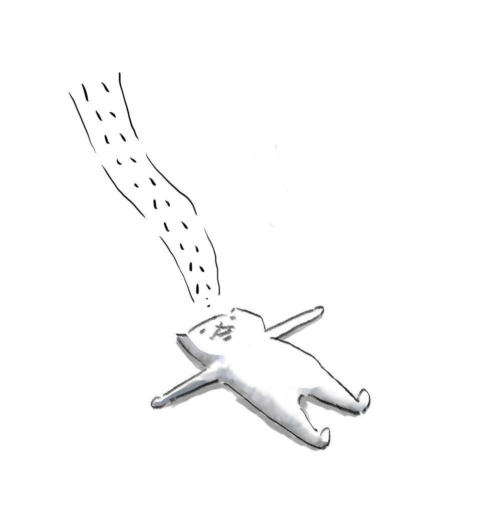 何かを諦めたネコ。  #フテネコ https://t.co/5ErQDxPVnq