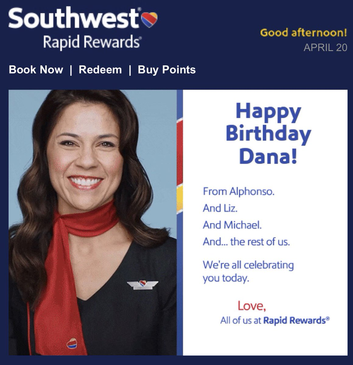test Twitter Media - Thanks for the bday wishes Alphonso, Liz and Michael. Let's celebrate on my next @southwestair flight! #iflyswa #cocktailsforeveryone https://t.co/6x2H39z5uH
