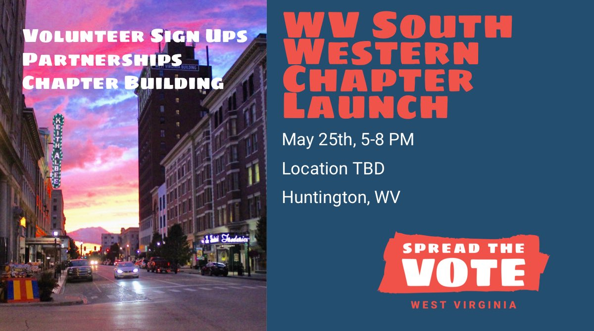 We're onto another Chapter Launch! #huntington #WestVirginia https://t.co/cYVk3NR43I