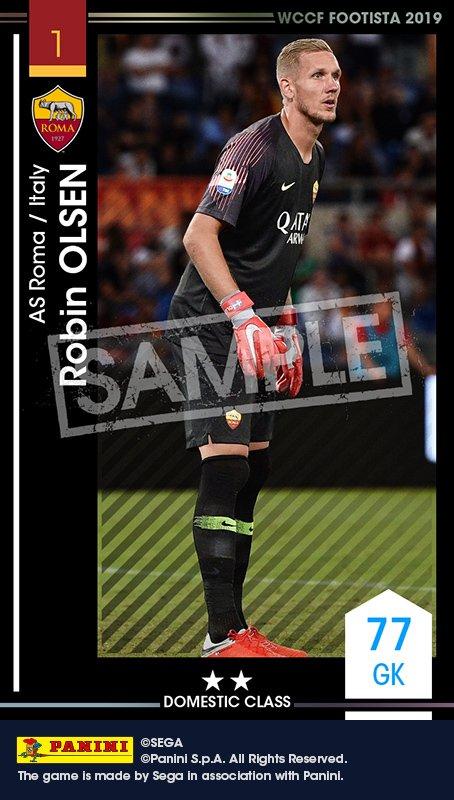test ツイッターメディア - シェアして1日2回スカウト!本日は【ロビン・オルセン】 をゲット!!欧州5大リーグ&Jリーグクラブが参戦!新生サッカーゲーム『FOOTISTA』で使えるシェアスカウト限定Paniniカード(選手カード)を獲得しよう!https://t.co/2ygBYpwaIt #footista #wccf https://t.co/bARmWygs1s