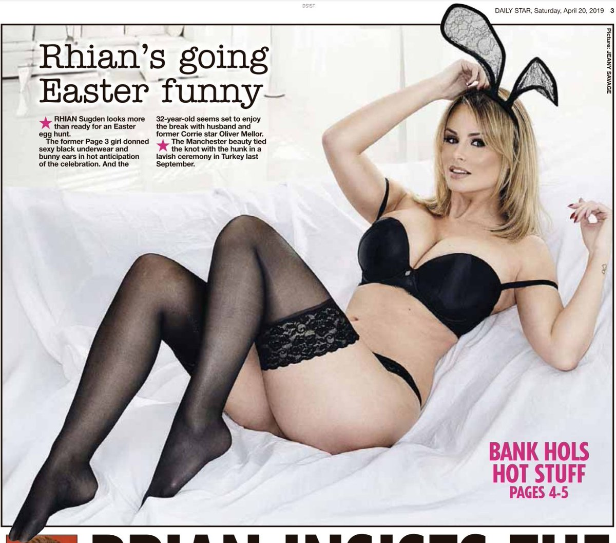 RT @Page3Classics: Hoppity hop hop. It's @Rhianmarie on Page 3 of Saturday's Daily Star. https://t.co/vomMZz6lTb