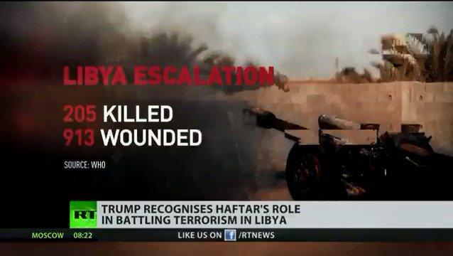 Libyan turmoil: Trump recognises Haftar's role in battling terrorism in