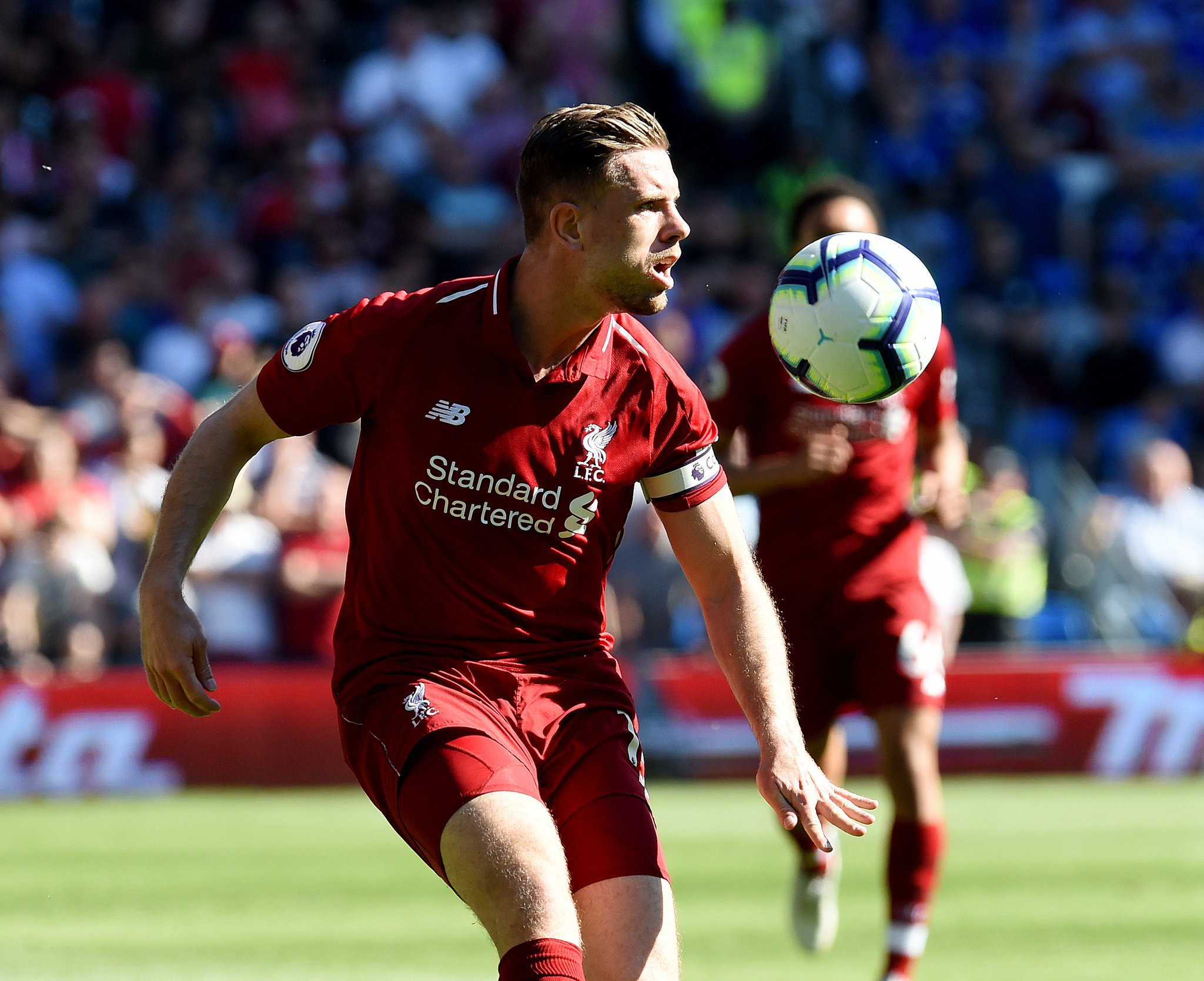 61' - Henderson connects to a brilliant pull-back but his effort goes over the bar. Another great move from the Reds.  [0-1]  #CARLIV https://t.co/URXG64BGvk