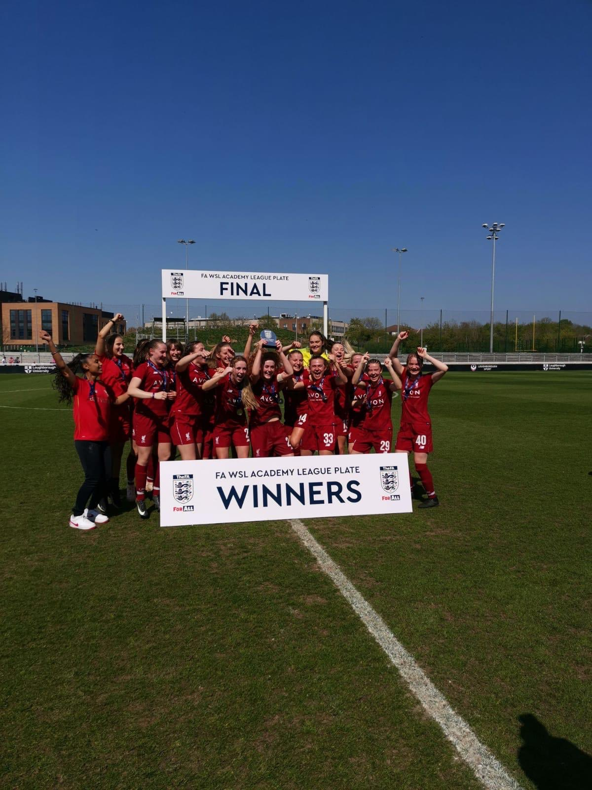 A win for our #LFCWomen Academy today as well!  The Reds completed their league & plate double, defeating @bristolcitywfc 2-1 in the final 🏆🏆🔴 https://t.co/5TewDv7hf4