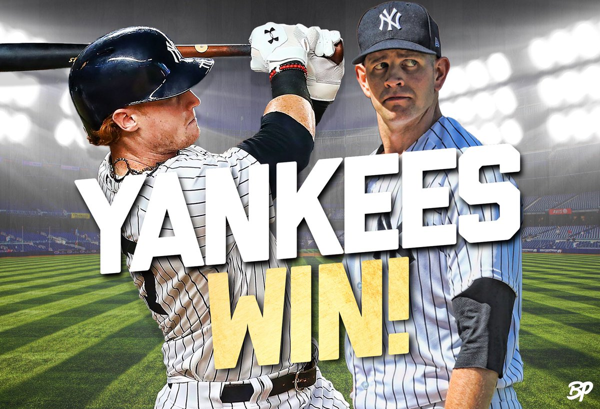 test Twitter Media - 💥YANKEES WIN!💥 - ✅ ROMINE TIES THE GAME AND WALKS IT OFF!! ✅ PAXTON K's 12! ✅ FRAZIER STAYS 🔥 ✅ YANKEES WIN 3RD STRAIGHT! - #Yankees #NYY #MLB https://t.co/6D8HGFZtVn