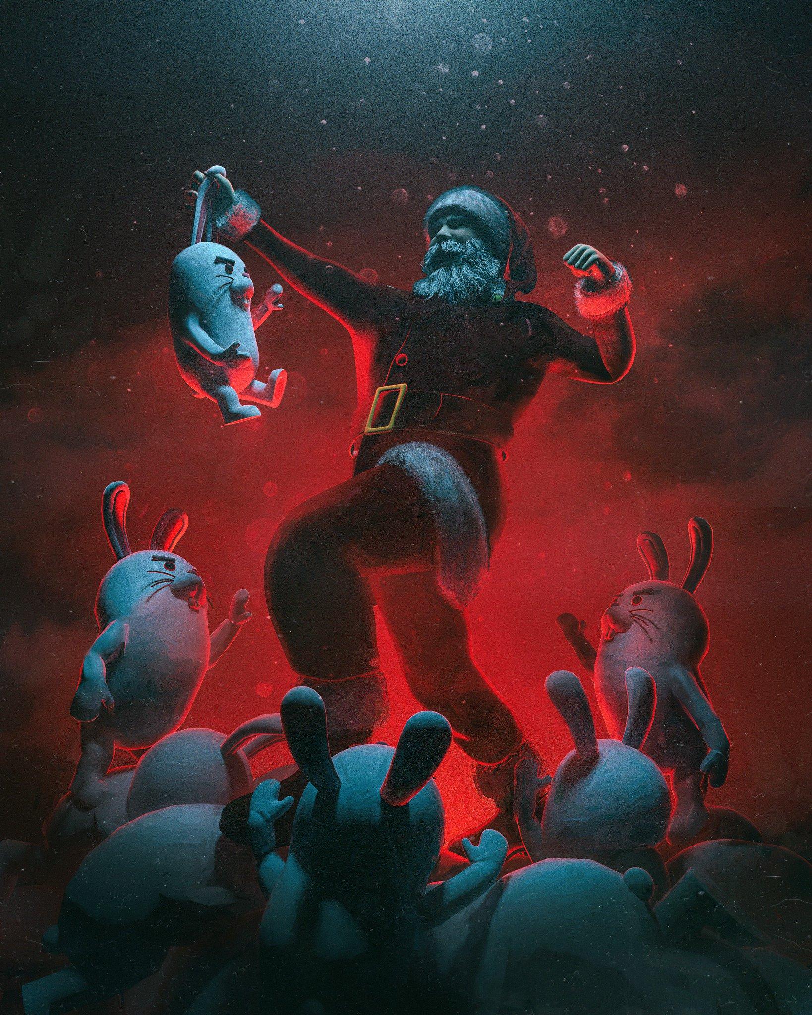 #everyday #cinema4d - EASTER VS. CHRISTMAS https://t.co/nG1cNfxptk