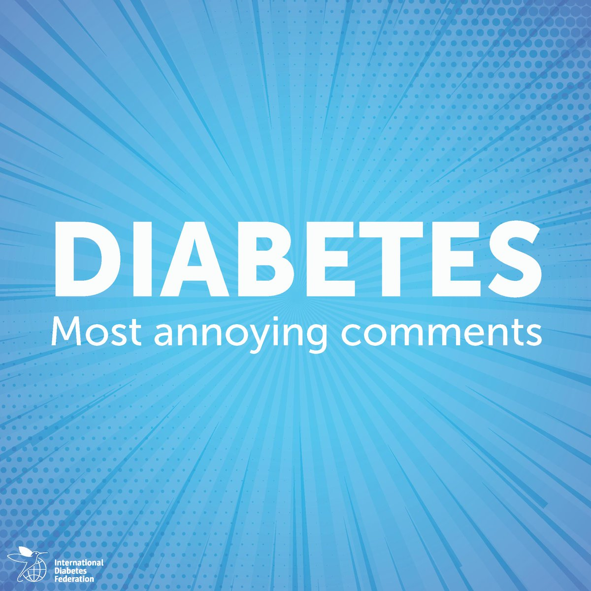 test Twitter Media - What comments that other people make when they learn you have #diabetes annoy you the most? Share them with us https://t.co/E0TifkFkme