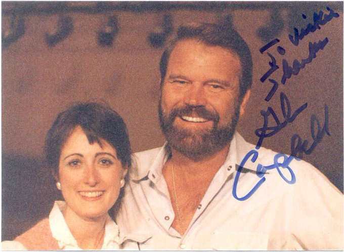 Happy Birthday in Heaven, Glen Campbell.  Miss your music. I loved getting to meet you in 1985.