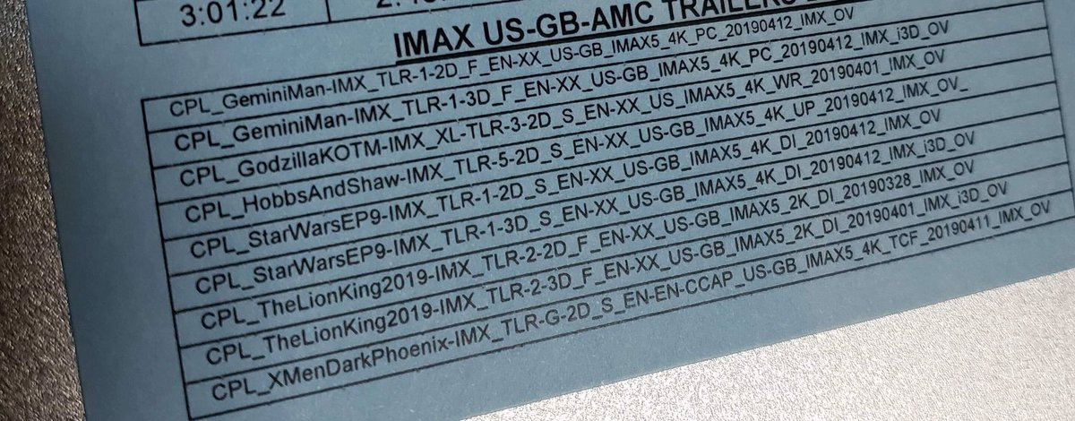 """RT @ImAFilmEditor: Trailers attached to """"#AvengersEndgame"""" in @IMAX! https://t.co/1Wg0xp0LfP"""