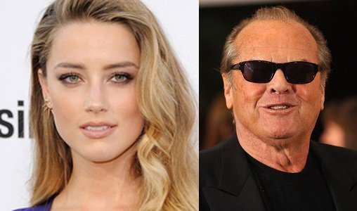 HAPPY BIRTHDAY !  Amber Heard  and (the Legend) Jack Nicholson !
