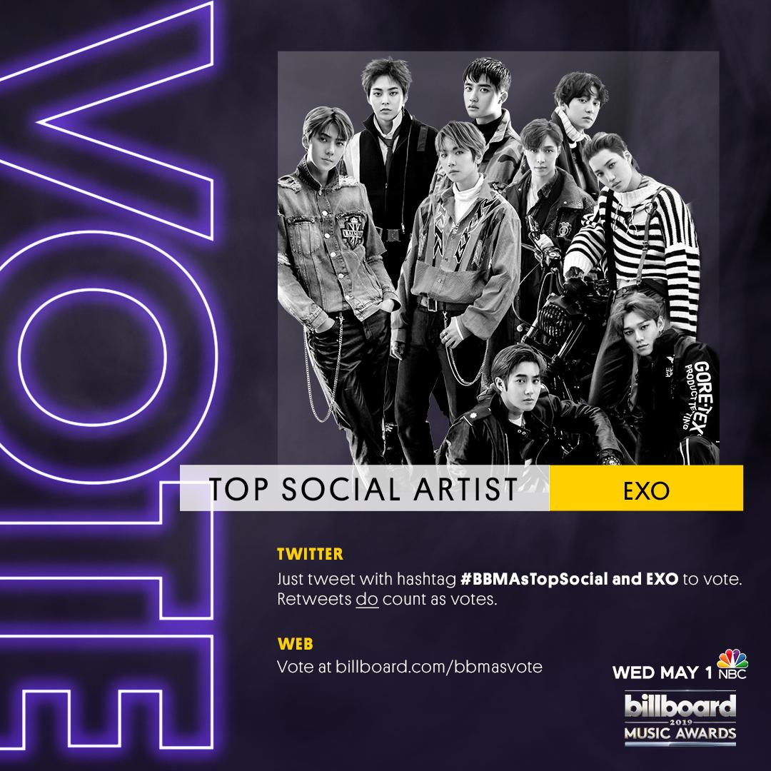 Help EXO win #BBMAsTopSocial by voting here: https://t.co/RH2JrApz5v https://t.co/yWXJNtcCHP