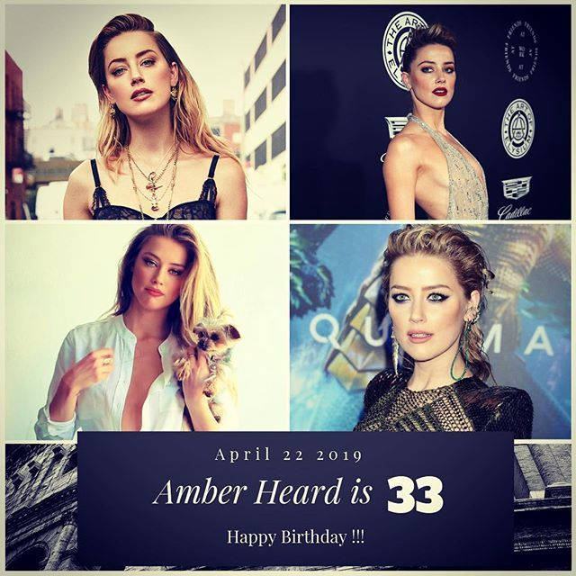 Actress Amber Heard turns 33 today !!!       to wish her a happy Birthday !!!