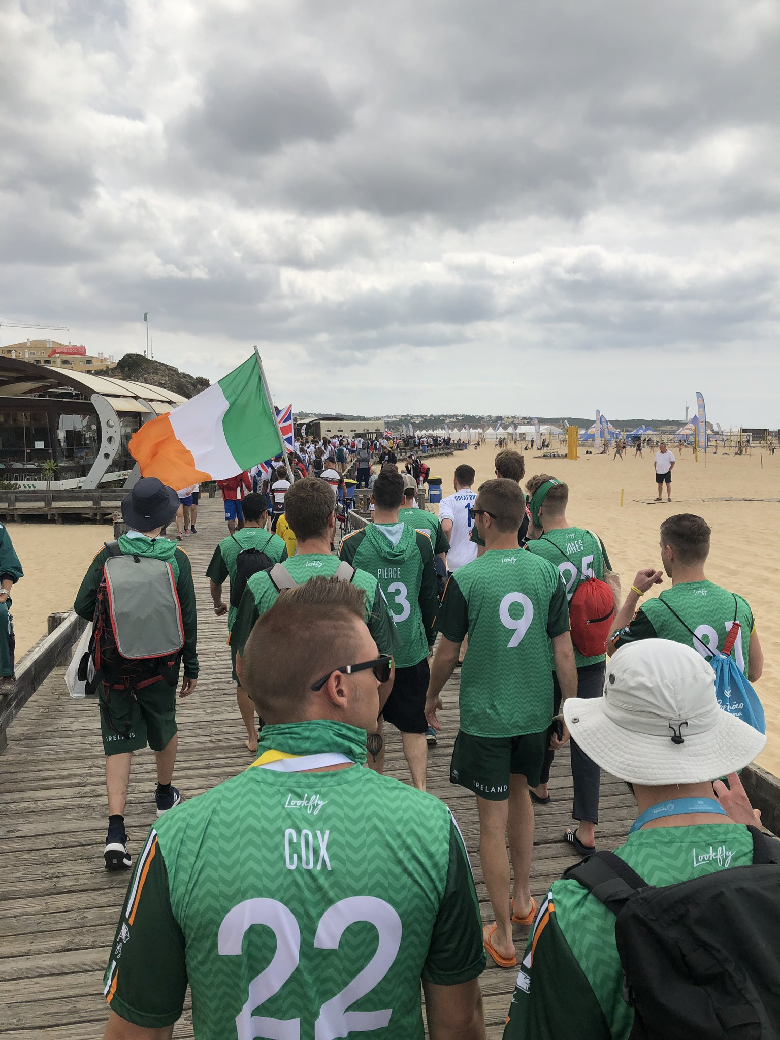 The Opening Ceremony is go! @EBUC2019 @IFDAnews @WorldFlyingDisc #EBUC2019 https://t.co/MvS54EfbPK <a href='https://twitter.com/IRLMastersBeach/status/1125362466354077698/photo/1' target='_blank'>See original &raquo;</a>