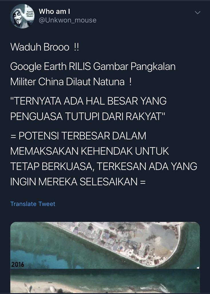 """@Unkwon_mouse Jaraknya 961 km dari Pulau Natuna.  Selain dah di luar ZEE, Kep Spreatly ga konflik dengan kita. Itu urusannya China dengan negara-negara sekitarnya.  Btw, apakah anda tahu batas """"Laut Natuna Utara"""" itu sampai mana? 🤣🤣🤣 https://t.co/K65BWW6vEN"""
