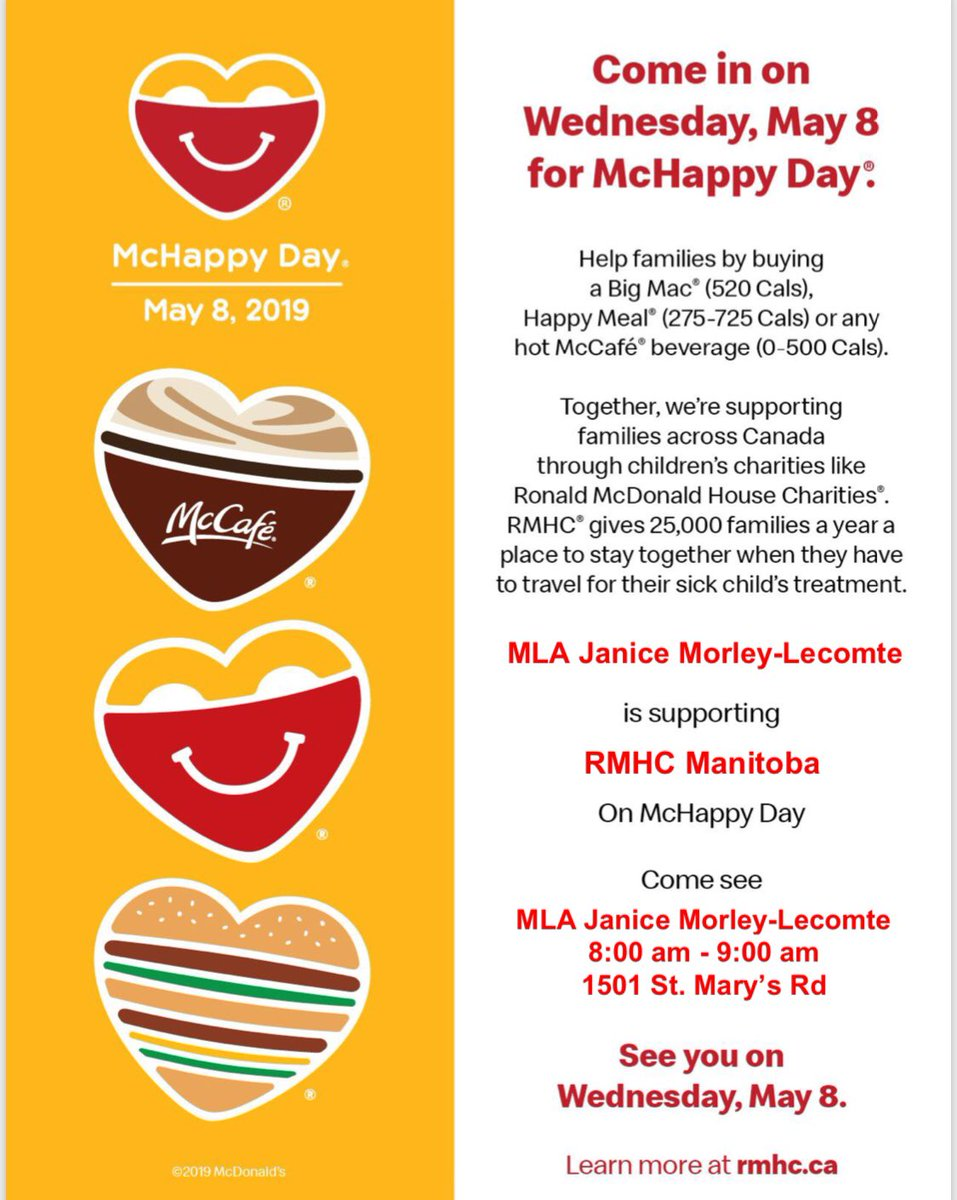 test Twitter Media - McHappy Day is a great way to support families.  I encourage you to stop by any McDonalds on May 8 and purchase something in support of children charities.  #McHappyDay #Children https://t.co/ZxCfXZ0C91