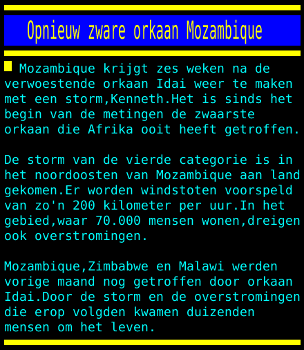 test Twitter Media - Opnieuw zware orkaan Mozambique https://t.co/k2noAKCxfb