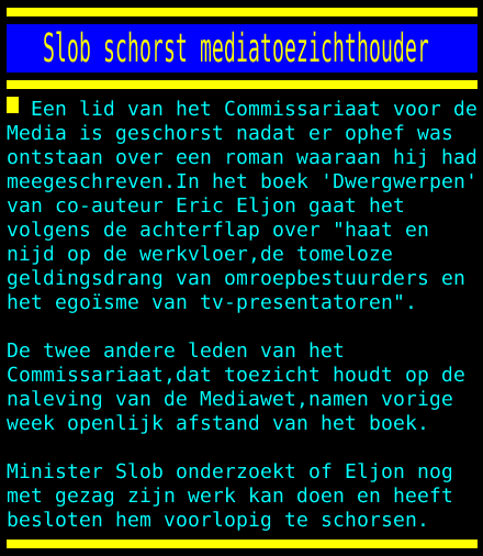 test Twitter Media - Slob schorst mediatoezichthouder https://t.co/NXiamdmNWW