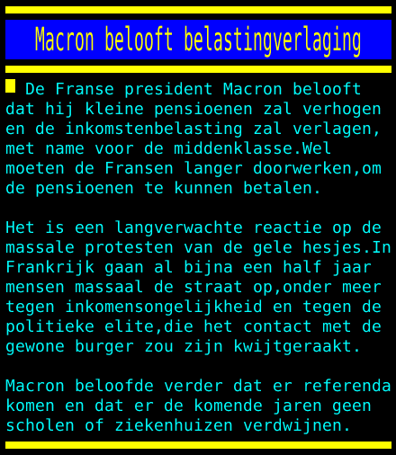 test Twitter Media - Macron belooft belastingverlaging https://t.co/GhYfR3fckA