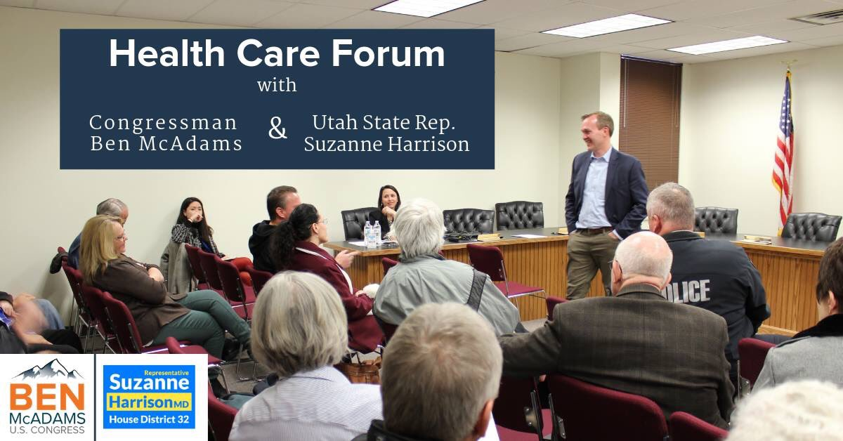 test Twitter Media - Please join me and @RepBenMcAdams for a Health Care Forum TODAY at the Hale Center Theatre in @sandycityutah from 4-6pm.  Come for a panel discussion with health experts as well as an audience Q&A. https://t.co/3xEDYyYMI6
