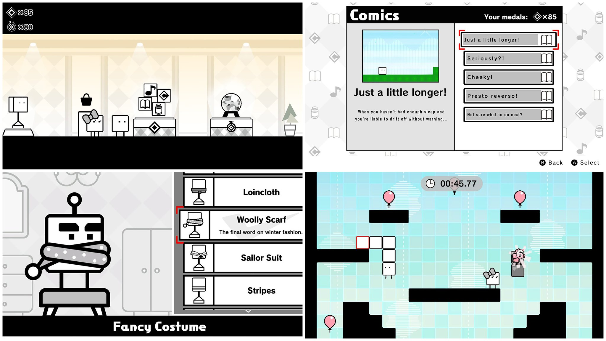 Need a break from stacking boxes and saving the world in #BOXBOY! + BOXGIRL!? Redeem your Target Medals for in-game rewards like assist items, music tracks, or comics. Customize the look of your characters, and even embark on a special Balloon Challenge minigame for extra medals. https://t.co/igYpCBtJGM