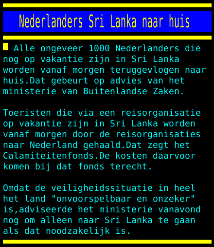 test Twitter Media - Nederlanders Sri Lanka naar huis https://t.co/dsay4ITwdk
