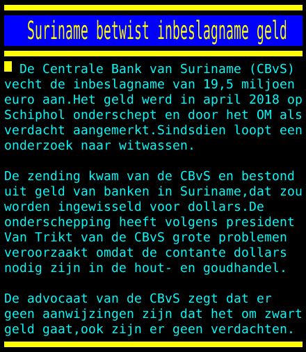 test Twitter Media - Suriname betwist inbeslagname geld https://t.co/8wqRozbek4