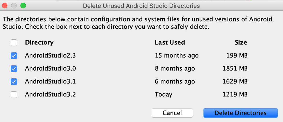 Just upgraded #AndroidStudio to 3.4 and I just saved few GBs of un-use thing for a while #garbagecollection https://t.co/Ae7nEgkaLE