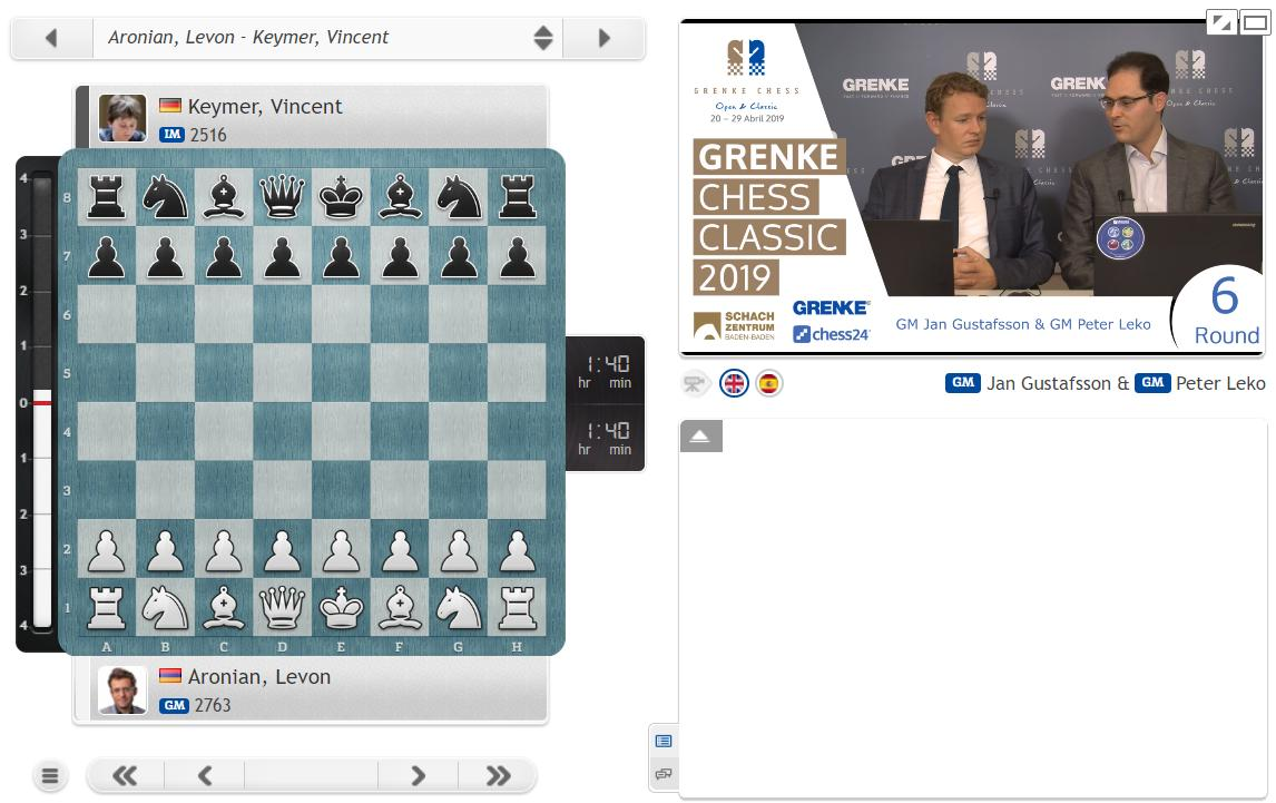 test Twitter Media - Jan & Peter are LIVE now as Round 6 of #GRENKEChess is about to start! https://t.co/PzG2B7v7B2 #c24live https://t.co/ilbx8lY1Cl