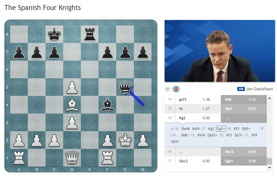 test Twitter Media - Vallejo-Caruana is ending in a draw shown in Jan's recent Four Knights video series: https://t.co/5tMLN0eTPg #GRENKEChess https://t.co/HaEVEcQAdI
